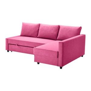Ikea, Friheten , corner sofa-bed, Skiftebo cerise- Ikea.com