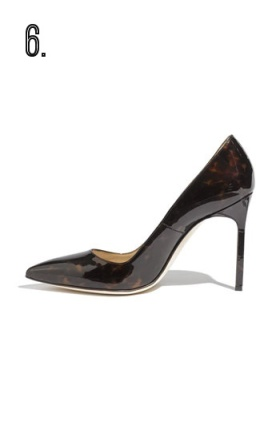 Manolo Blahnik shiny tortoise shell pumps