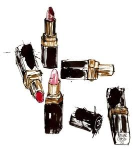 Lovisa Burfitt Lipstick sketch