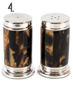 Gorgeous tortoise shell + silver shakers // Ralph Lauren