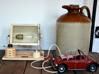 Light and jug from Kloof Street Antiques