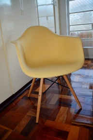 Lemon yellow chair from @home living
