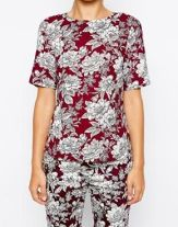 Oasis Short Sleeve Floral Co-Ord Top