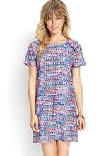 Forever 21 Geometric weave shift dress