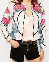 ASOS Jacket with Harlequin Embellishment