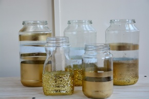 DIY: Glittery Gold Goodness