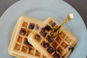 Almond Flour,Blueberry Waffle delight!