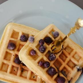 Almond Flour,Blueberry Waffledelight!