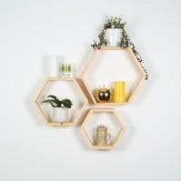 Hexagon Shelf Set of 3 by B&K Design R 599.00,