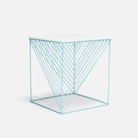 Steel Square Stool by the Nolden Brothers
